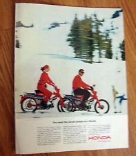 1964 Honda Trail Ad  Meet Nicest People on A Honda Ski Skate Winter Fun