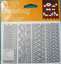 "Cricut Cuttlebug ""All Girl Confetti"" Cut & Emboss Die Set Shaker Card Lips Shoes"