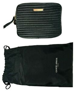 Giorgio Armani Cosmetic Make Up Pouch Travel Toiletry Wash Bag in Black