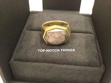 DAVID YURMAN GOLD RING METEORITE 18K YELLOW GOLD SIZE 11 RETAIL $5900 OF METEOR