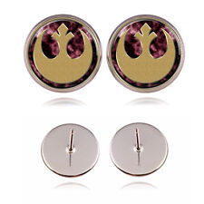 Star Wars Rebel Alliance Logo Silver Plated Women Stud Earring Jewelry Gift