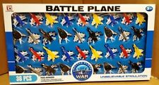 36 PC Fighter Jet Model Battle War Planes Kids Toy Play Set Gift Pack UK SELLER