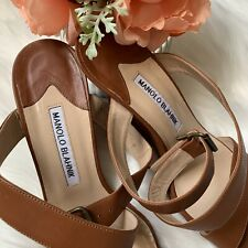 Manolo Blahnik camel colored wedges, size 37