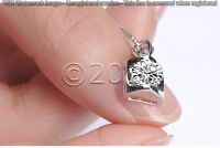 1.63 ct FANCY Off White Yellow Real Moissanite .925 Sterling Silver Pendant I01