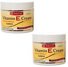 2x De La Cruz Vitamin E Moisturizer Cream 4 Oz 10,000 IU / CREMA CON VITAMINA E