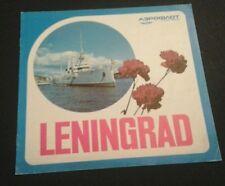 Aeroflot airlines vintage brochure Leningrad