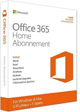 Microsoft Office 365 Home - für 5 PCs / MACs + 5 Tablets - PKC - Multilingual