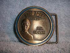Mr. Spock Star Trek Lives! Belt Buckle Paramount Pictures 1976 Vintage LEE used