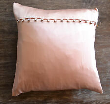 Ann Gish Silk Charmeuse Pillow - Rosebud Pink with Crystal Buttons