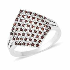 One Time Deal- Mozambique Garnet (Rnd) Cluster Ring (Size M) PRICE DROP?