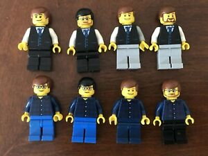 1x Lego Minifig Man Suit Computer Programmer City Office Worker