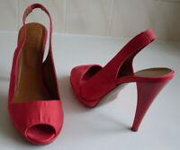 HOBBS London Platform Slingback Pump Heels Court Sandals Size EU 40.5 UK 7.5