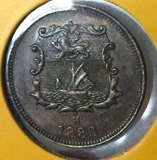 1886H British North Borneo 1/2cent  Coin Very High Grade coin!