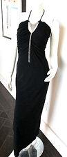 Vintage Halter Sexy Maxi Dress Bohemian Mod Modern / Chain Embellishment