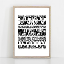 More details for green day whatsername song lyrics poster print wall art