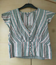 BNWT, COOL, GREEN, STRIPY TOP FROM ANGIE - MEDIUM (ABOUT UK 10)