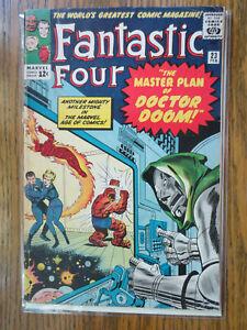 fantastic four 23 (marvel febuary 1964) silver age doctor doom VG+