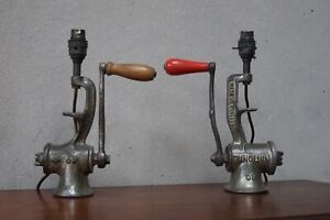 Pair of Industrial Lamps Cast Iron Up Cycled
