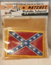 Vintage Flag Embroidered Patch Harley Davidson- Civil War South Nos