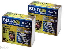 20 Hi-Disc BD-R DL 50GB 4x Speed Bluray Inkjet Printable No Logo Pro Version tdk