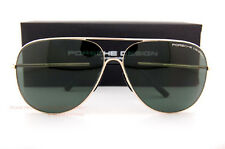 New Porsche Design Sunglasses P8605 8605 B Gold/Solid Green Men Women