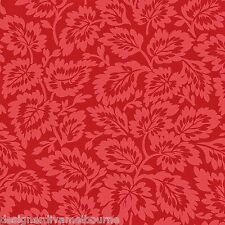 Peyton Place by Nancy Gere Cranberry Leaves cotton quilting fabric