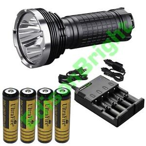 Fenix TK75 2015 CREE LED 4000 lumen flashlight w/ 4X 18650 batteries Charger