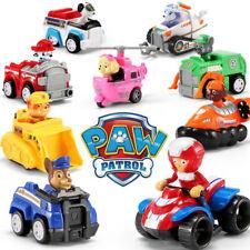 9pcs Fun Paw Patrol Dog Action Figures Doll Racer Car Set Kids Baby Boy Girl Toy