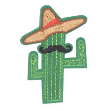 cowboy cactus with hat and beard diy embroidered iron on patches broochApplique""