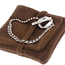 Auth GUCCI bracelet chain unisexused Y3047