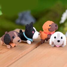 4pcs//set Miniature Lovely Dogs Bonsai Figurine Terrarium Garden Ornament