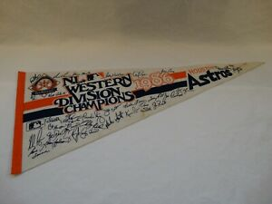 Vintage 1986 Houston Astros National League Western Division Champions Pennant