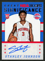 Stanley Johnson GS-SJ signed auto 2015-16 Panini Hoops Great Significance Card