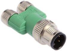 Phoenix Contact ADAPTER 40.7mm 4-Pole M12 Plug To 6-Pole M8 Socket, Nickel Plate
