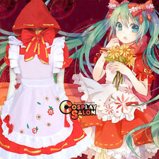 VOCALOID Hatsune Miku Anime Cosplay Costume Dress Clothing Apron Cloak