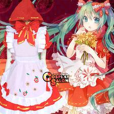VOCALOID Hatsune Miku Anime Cosplay Costume Dress Clothing Apron Cloak
