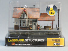 WOODLAND SCENICS N SCALE THE DEPOT BUILT & READY TRAIN STATION gauge 4942 NEW