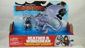 How to Train Your Dragon Heather And Windshear Dragon Riders Action Figure Toy