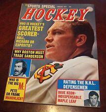Bobby Hull Sports Special Hockey February 1972 Derek Sanderson
