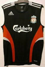LIVERPOOL ADIDAS WHITE PLAYERS STYLE SOCCER JERSEY SIZE SMALL FOOTBALL