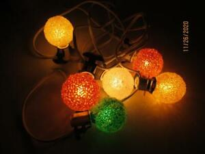 6 VINTAGE GE TEXTURED COLORED WORKING CHRISTMAS LIGHT BULBS MADE IN KOREA