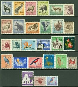 EDW1949SELL : SOUTH AFRICA 1954-1961 Sc #200-13, 254-66 Cplt sets VF MOG Cat $87