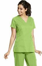 Grey's Anatomy Style 41452 V-Neck Detailed Scrub Top in Kiwi, Size 2XL