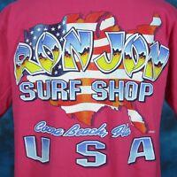 vintage 90s RON JON SURF SHOP COCOA BEACH FLORIDA POCKET T-Shirt LARGE usa skate