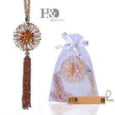 Champagne Hanging Suncatcher Crystal Peony Prism Beads Feng Shui Rainbow Pendant