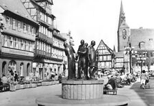 AK, Quedlinburg, Marktplatz mit Münzberger Musikanten, 1982