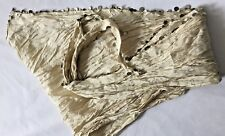 Scarf Ivory Crinkle Silk Hip Head Veil Triangle Metallic paillette sequin trim