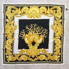 """1995 vintage GIANNI VERSACE silk scarf Les Trésors de la Mer print size 34"""""""