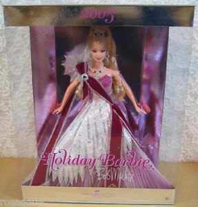 Bob Mackie 2005 Holidays Celebration Barbie Doll Burgundy Gown & Sash NEW (A5)