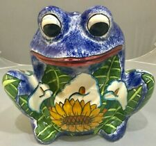 Vintage Hand Painted Frog Cache Pot Planter